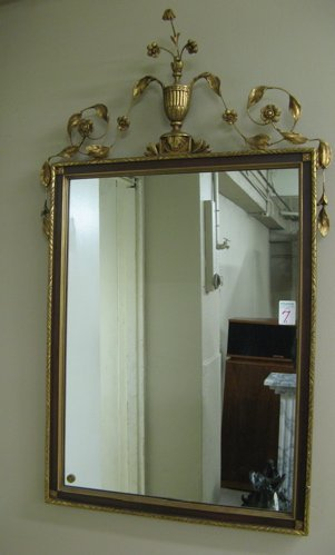 7: AN AMERICAN WALL MIRROR in the Hepplewhite  manner h