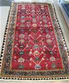 12 PERSIAN SHIRAZ AREA RUG overall floral design  on