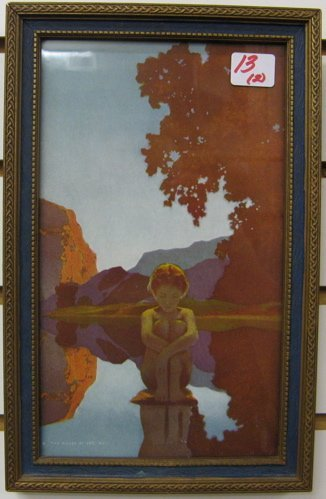 """13: TWO MAXFIELD PARRISH COLOR PRINTS: """"Daybreak"""" and """""""