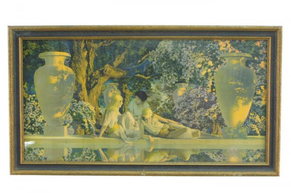 """23: MAXFIELD PARRISH COLOR PRINT titled """"Garden of  All"""