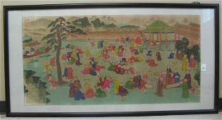 500 A CHINESE COLOR PRINT after the original  painting