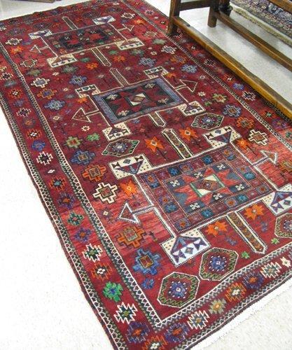 616: PERSIAN BAKHTIARI CARPET, overall geometric  desig