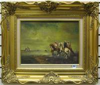 841 CONTINENTAL SCHOOL 20th century  Oil painting on