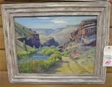147: EDWARD B. QUIGLEY oil on art board (Portland, Ore