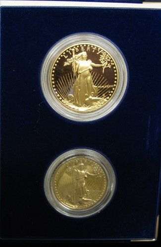 152: 1987 US GOLD EAGLE COIN SET.  The cased US Mint  p