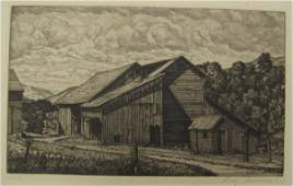 157: LUIGI LUCIONI (Italy, N.Y. 1900-1988) Etching and