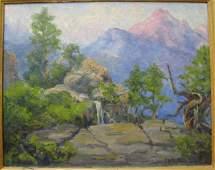 162: FRANCIS HARVEY CUTTING oil on canvas board (Campb