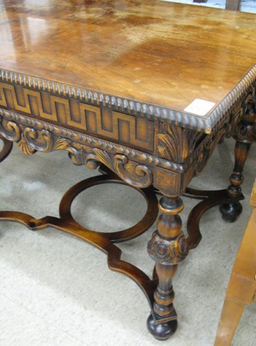 256: WILLIAM & MARY REVIVAL HALL TABLE, American, c.  1