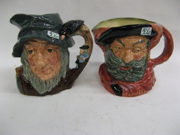 "306: TWO ROYAL DOULTON CHARACTER JUGS, large  size: ""Fa"