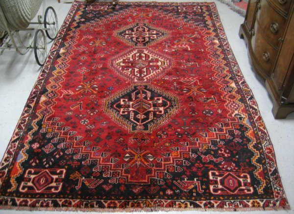 308: PERSIAN SHIRAZ AREA RUG, Fars province,  southwest