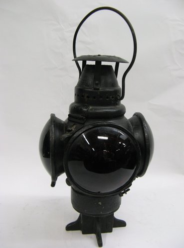 "309: AN AMERICAN CAST IRON RAILROAD LANTERN, ""The  Adla"