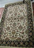 380 AN INDOPERSIAN AREA RUG hand knotted in an all o