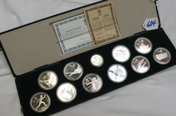 604: CANADIAN 1988 PROOF COIN SET: $100 gold coin  weig