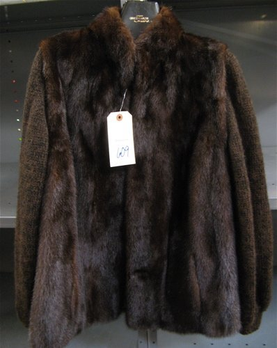 609: LADY'S MINK FUR JACKET, fully lined, by  Greenwich