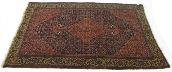 616: ANTIQUE NORTHWEST PERSIAN AREA RUG, hand knotted i