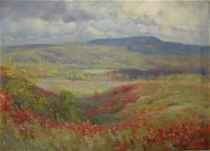729 PAUL TURNER SARGENT OIL ON CANVAS  An autumn lands