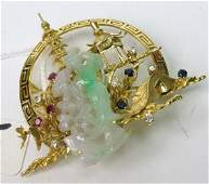1005: THREE DIMENSIONAL JADE, SAPPHIRE, RUBY, DIAMOND A