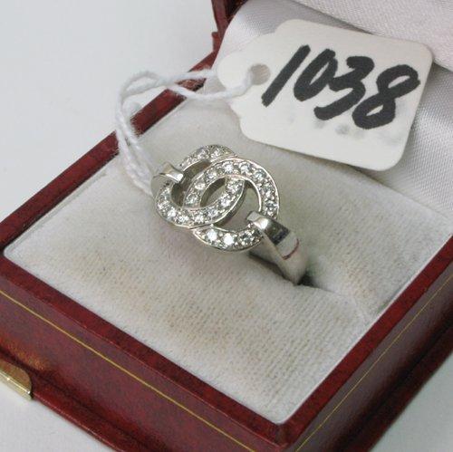 "1038: MOVADO DIAMOND ""COMMITMENT"" RING, the 18K white"