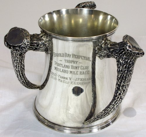 4: STERLING SILVER PORTLAND HUNT CLUB TROPHY for  the M