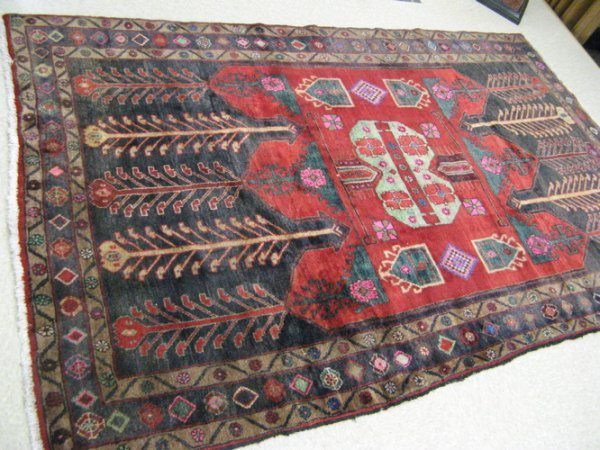 20: PERSIAN MALAYER CARPET, centering a cluster of  geo