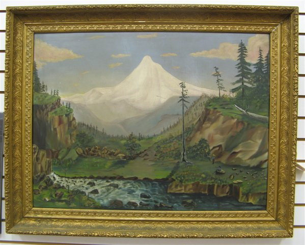 22: AN ANONYMOUS 19TH CENTURY OREGON ARTIST  Oil on can