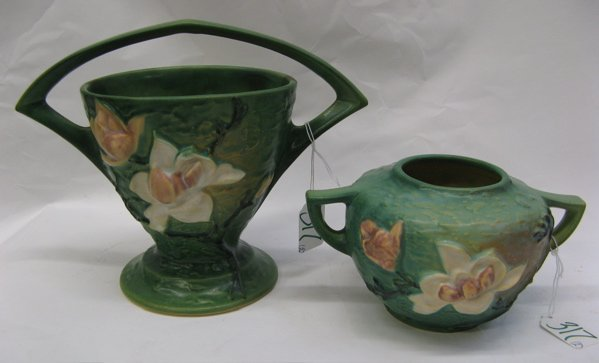 317: TWO AMERICAN ROSEVILLE POTTERY PIECES, in the  Mag