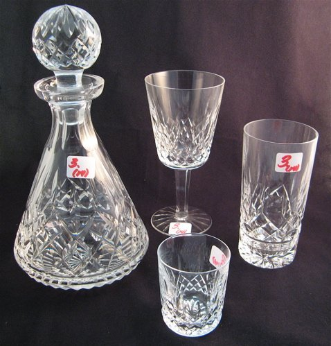 3: WATERFORD CRYSTAL, fourteen pieces in the  Lismore p