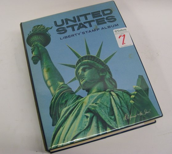 7: A UNITED STATES POSTAGE STAMP ALBUM by Liberty  with