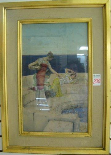 230: T. Tadema (Henriette Groenveld) watercolor and  go