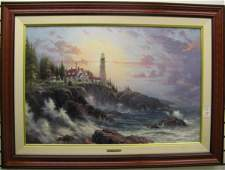 17 THOMAS KINKADE color lithograph on canvas America