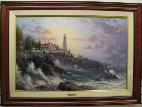 17: THOMAS KINKADE color lithograph on canvas (America