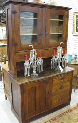 172: ASHWOOD COUNTRY KITCHEN CUPBOARD IN TWO SECTIONS,
