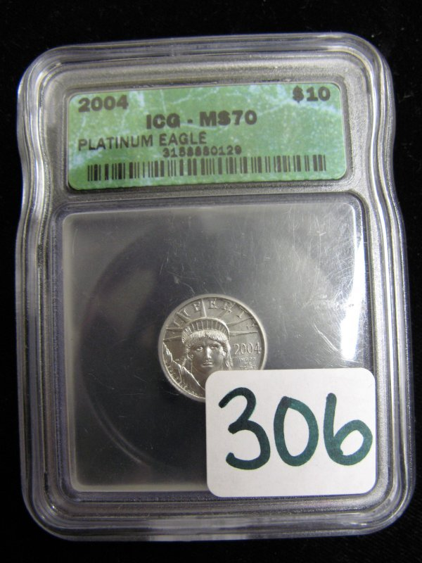 306: AMERICAN EAGLE PLATINUM BULLION COIN, $10  denomin