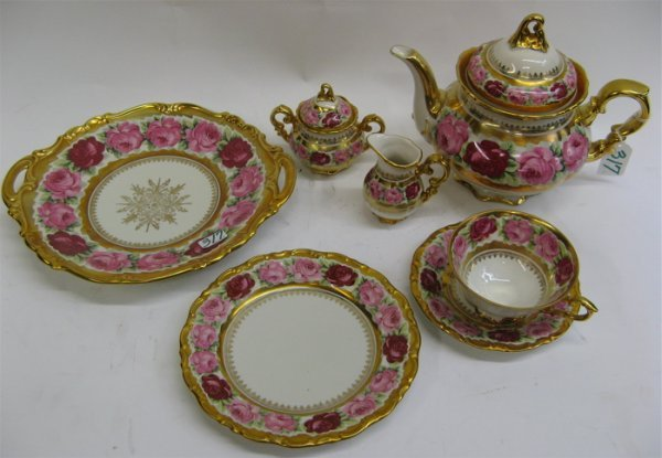 317: 24 PIECE GERMAN BAVARIAN PORCELAIN DESSERT SET,  i