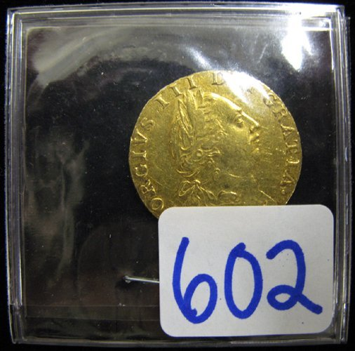 602: 1788 GEORGE III SPADE GUINEA GOLD COIN, the  obver