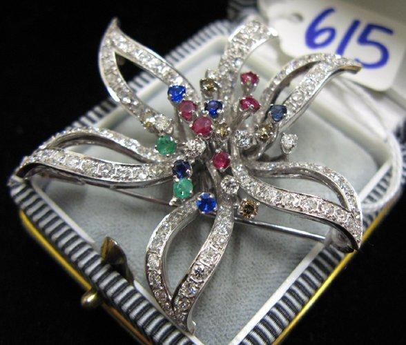 615: EMERALD, SAPPHIRE, RUBY, DIAMOND AND FOURTEEN  KAR