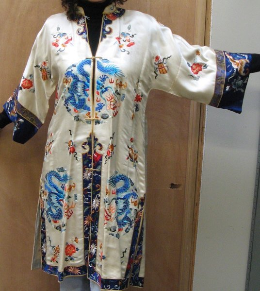 621: THREE ASIAN SILK LADY'S ROBES: the first is  Japan