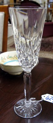 624: SET OF TWELVE WATERFORD CUT CRYSTAL FLUTED  CHAMPA