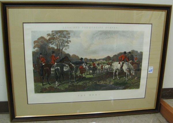 610: JOHN HARRIS JR. the second, colored engraving. (B