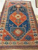 824 TWO MIDDLE EASTERN TRIBAL AREA RUGS semiantique