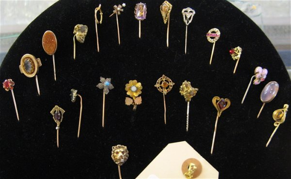 5: A COLLECTION OF TWENTY-THREE VICTORIAN STICK  PINS: