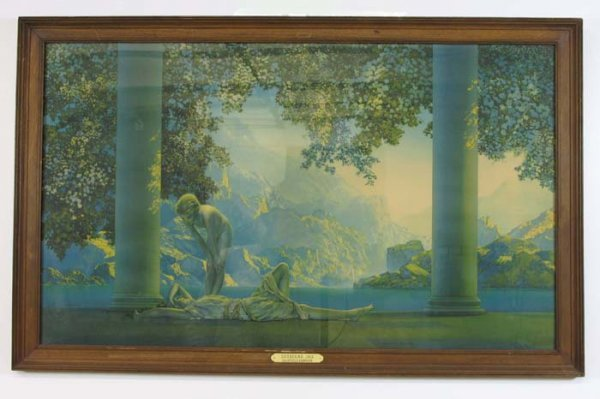 "13: MAXFIELD PARRISH COLOR PRINT titled  ""Daybreak"", c."