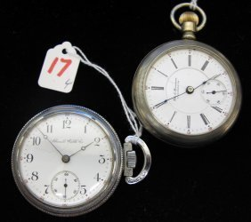 17: FOUR AMERICAN POCKET WATCHES