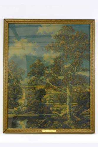 "23: MAXFIELD PARRISH COLOR PRINT titled  ""Early Autumn"""