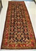 158: PERSIAN MALAYER RUNNER, Northwest Iran, hand knot