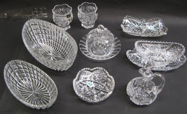 304: TEN PIECES OF AMERICAN AND CONTINENTAL CRYSTAL.  F