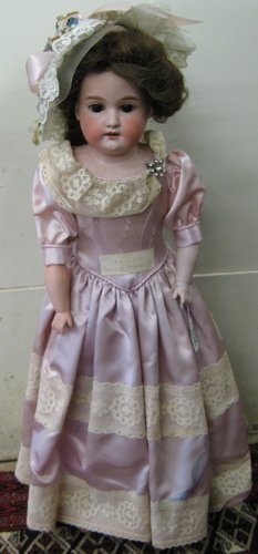 306: ARMAND MARSEILLE GERMAN BISQUE HEAD GIRL DOLL, 24i