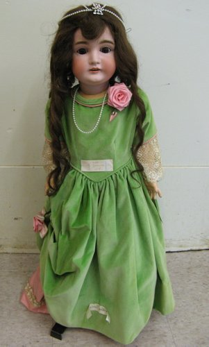 314: J. D. KESTNER GERMAN BISQUE HEAD DOLL, 30 in.  #16