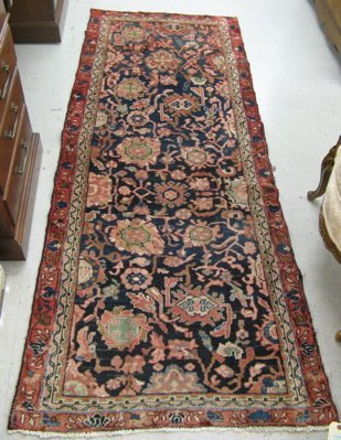 "0536A: TWO PERSIAN AREA RUGS: 2'9"" x 9'0"" Malayer and a"