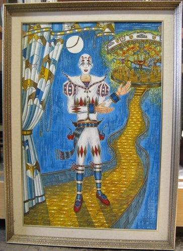 624: GEORGE CRONIAS OIL ON CANVAS  (California 1925-200